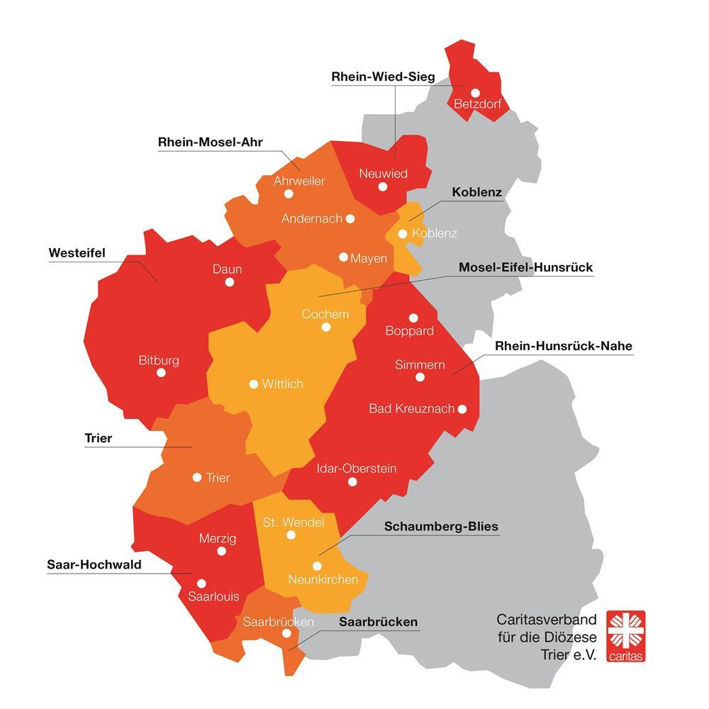 Bistum Trier Karte.Ortscaritasverbände